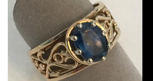 Custom designed ring from Gemstone Creations.
