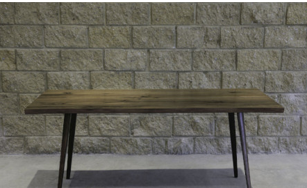 Reclaimed wood large rectangular dining table with 4 legs, LH Imports
