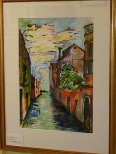artist Rocco Colussi_Italian artist_watercolor painter_Italian scene_Venice_painter of Venice_Pinocchio author_