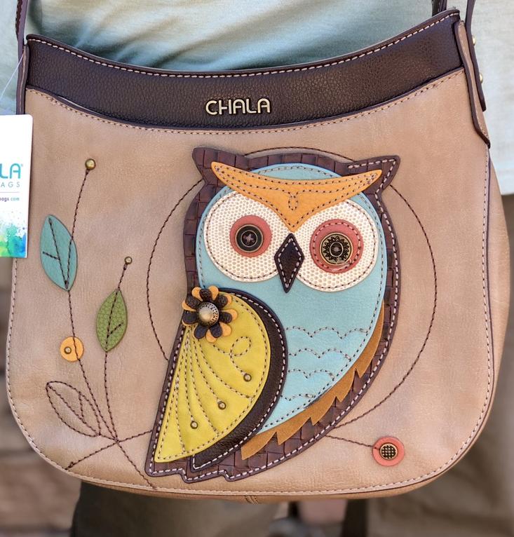 purse, bag, crossbody bag, owl, chala, spring