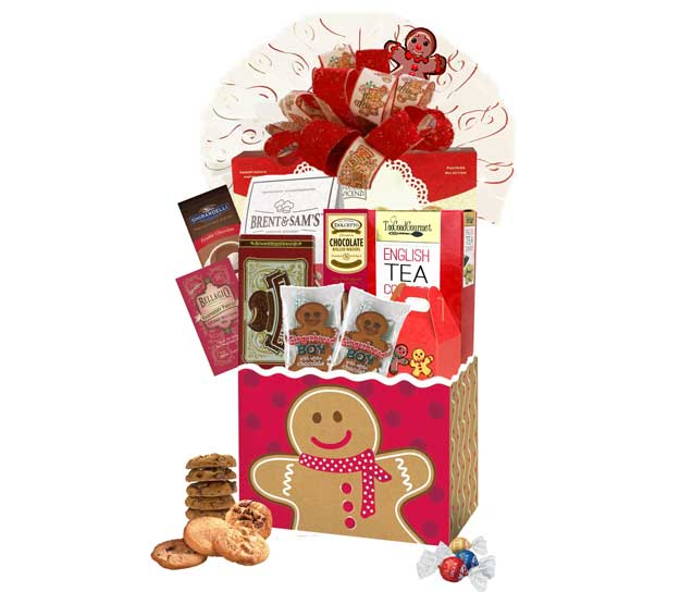 Gingerbread Basket Box filled with sweet treats