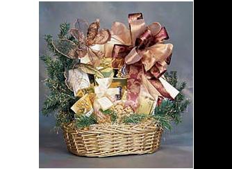 Large gourmet holiday gift basket