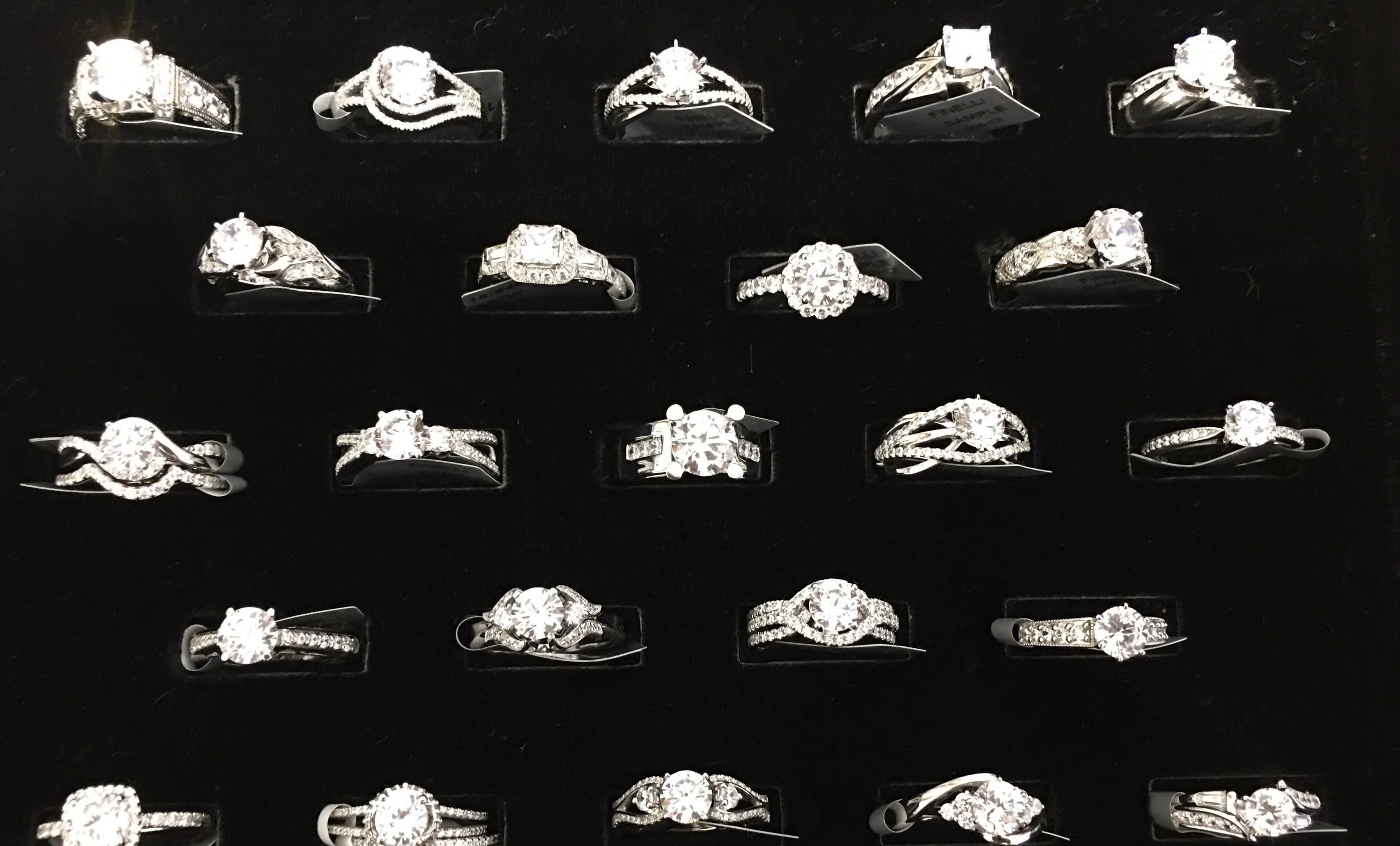 Our sample rings, bands and pendants are on sale!