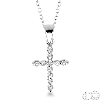 Sterling Silver and Diamond Cross Pendant
