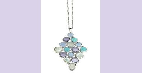 Sterling Silver Amazonite and Amethyst Pendant