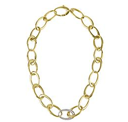 Herco Gold and Diamond Link Necklace