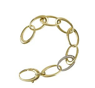 Herco Gold and Diamond Link Bracelet