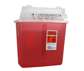 sharp medical supplies container