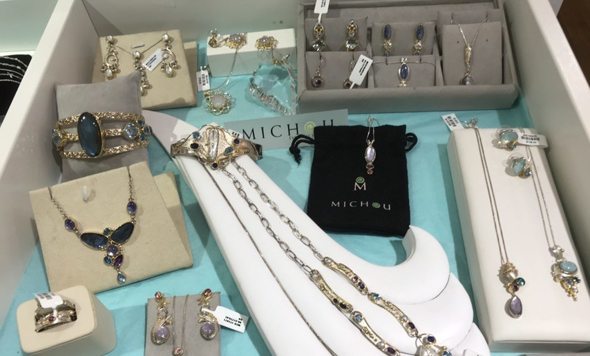 Michou jewelry is one of our favorite brand of colored gemstone jewelry.