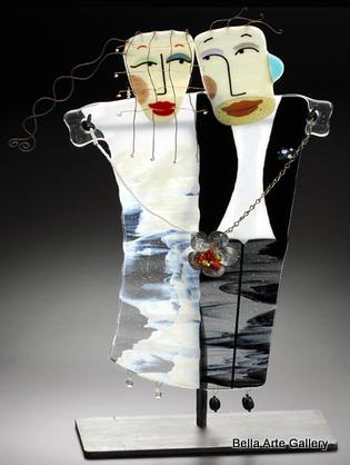 fused glass_ Nina Cambron_figurative glass_Mixed media_