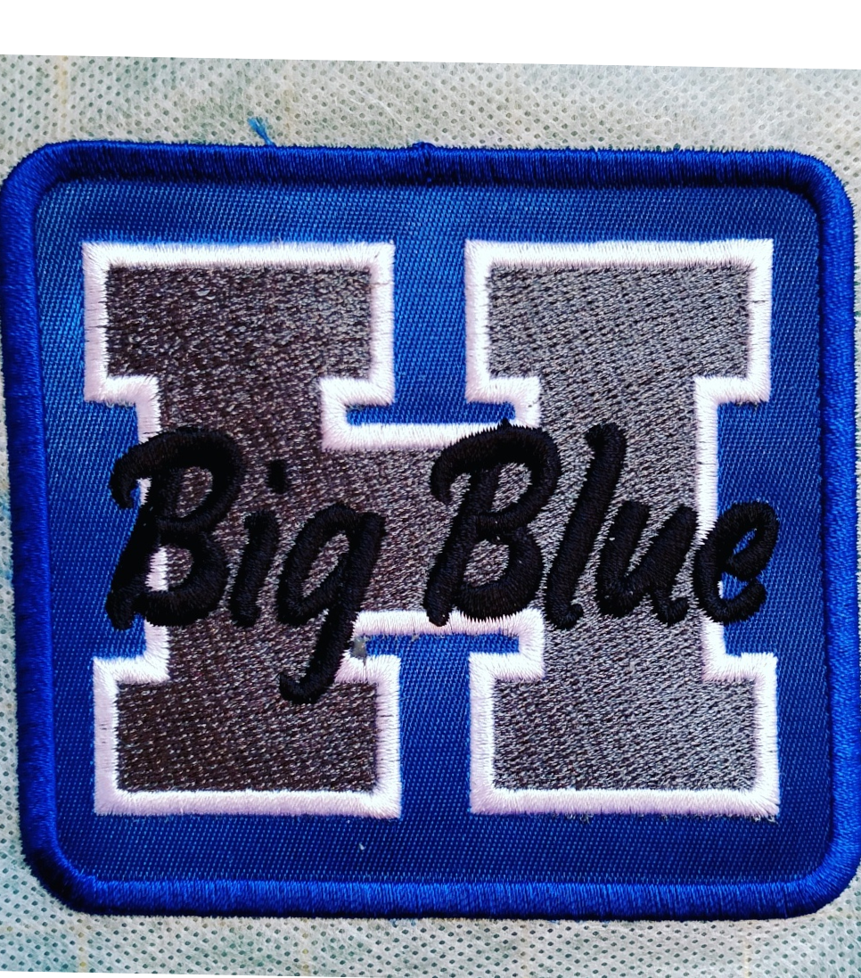 Big blue school patch