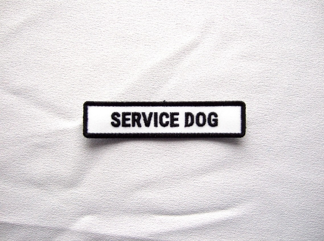 custom service dog patch