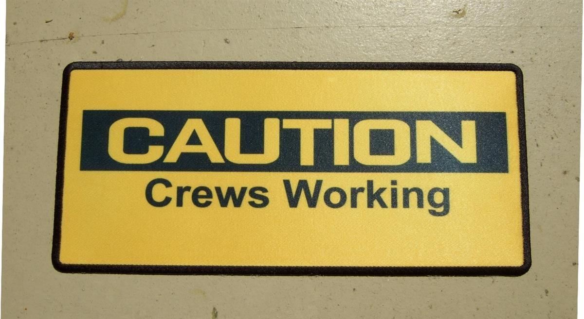 custom caution crews working patch