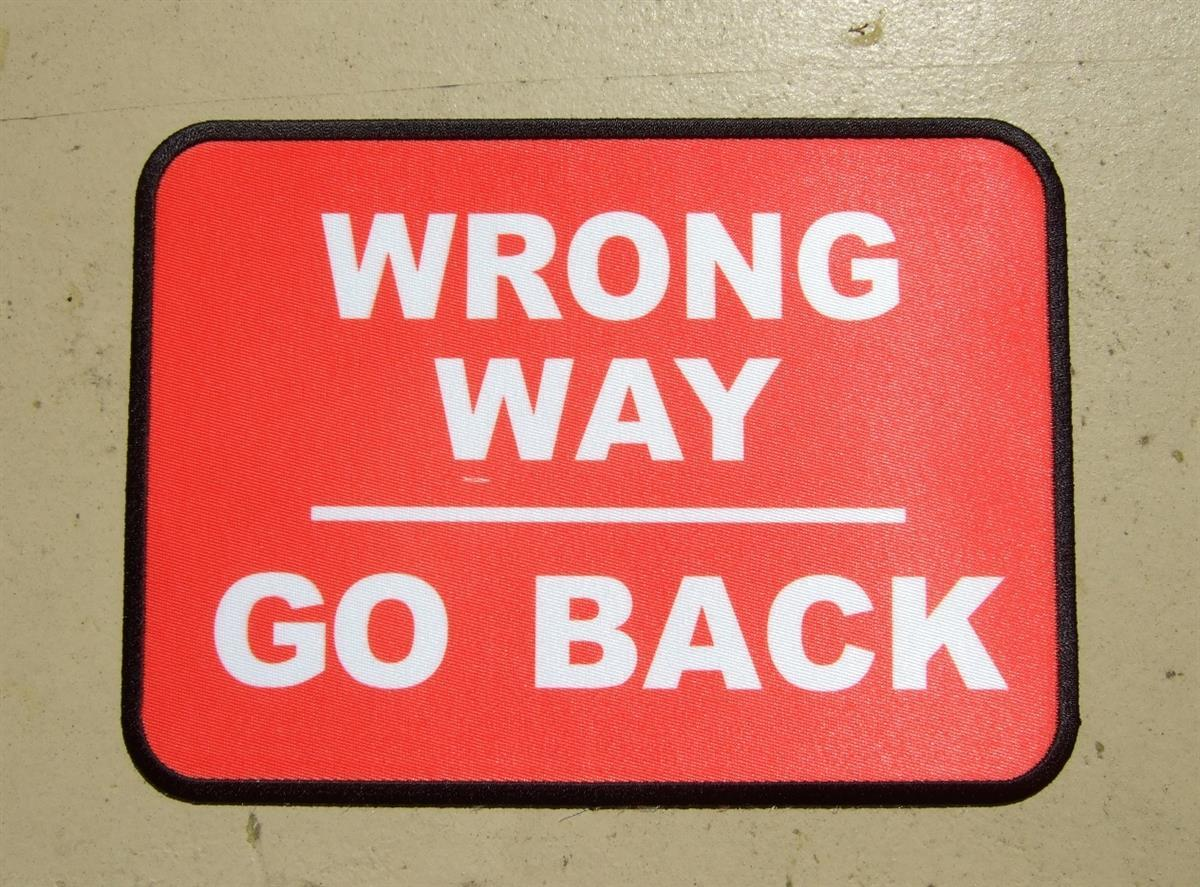 custom wrong way patch