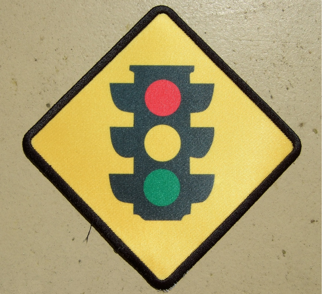 custom stop light patch