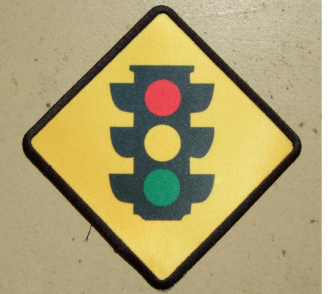 custom stop light patch