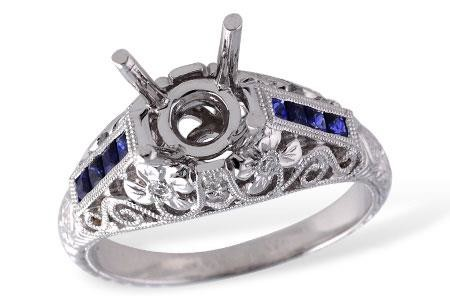 Antique_vintage_blue_sapphire_mounting_ring