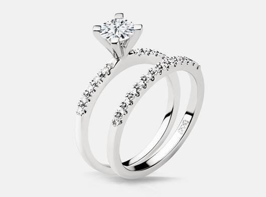 White_gold_weddig_set_diamond_solitare_side_matching_band