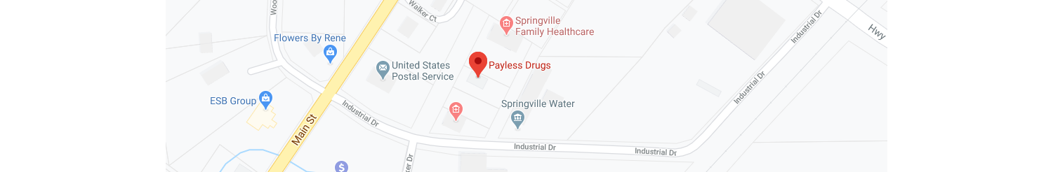 Image google map of payless drugs springville