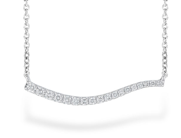 bar necklace, diamond bar necklace, diamond necklace, kluh jewelers