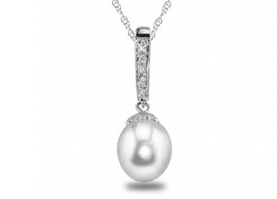pearl pendant, pearl diamond pendant, pearl diamond necklace, pearl necklace, kluh jewelers