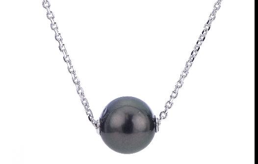 pearl pendant, pearl necklace, tahitian pearl, kluh jewelers