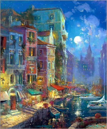 James Coleman_American painter_impressionism_Disney_romance_European cities_California cities_Hawaiian art_Disney art_fine ar