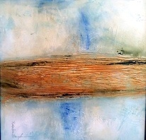Jan Richardson Baughman_deceased artist_abstracts_mixed media_gold leaf_ceramic artist_works on paper_textural paintings_hand