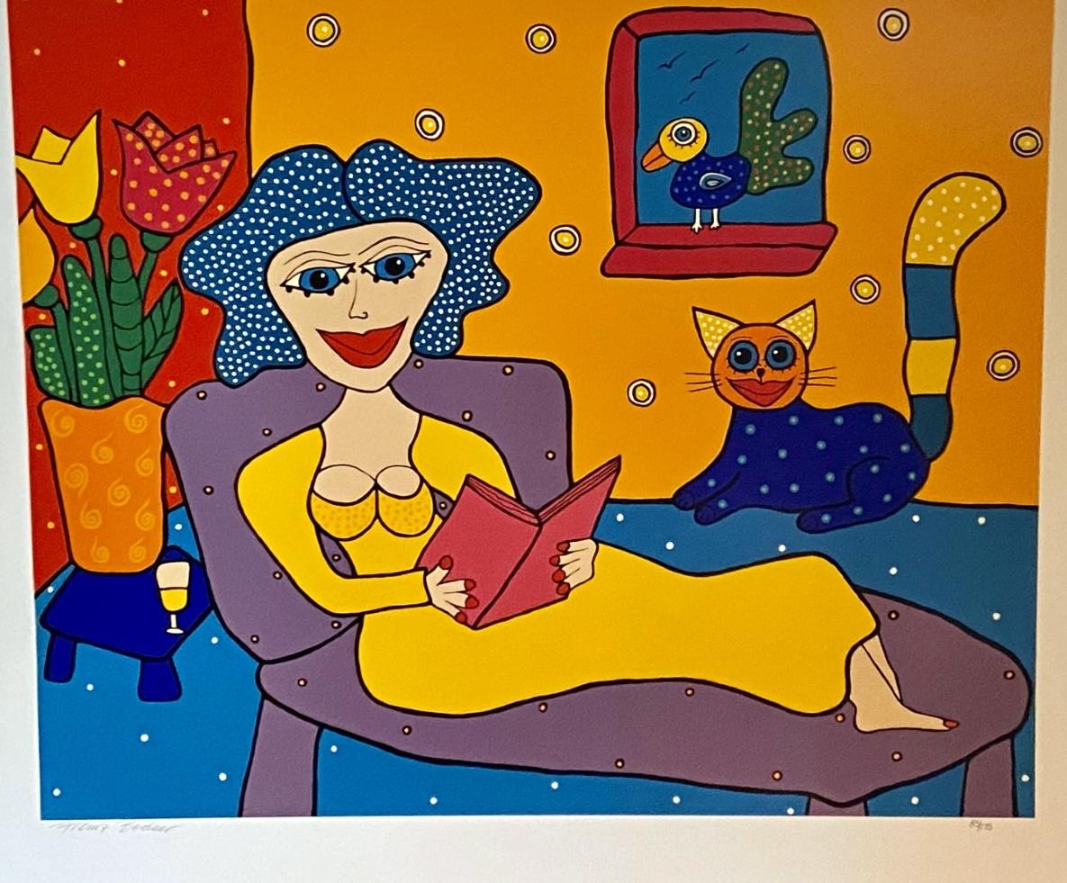 Franz Bodner_pop artist_women_Austrian pop artist_colorful art_colorful animals_spiritual_wild women_couples_