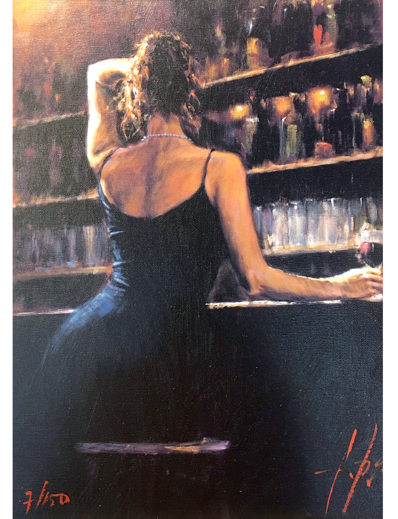 Fabian Perez_figurative_sexy art_romance_fine art_bar paintings_cafe_Argentina artist_