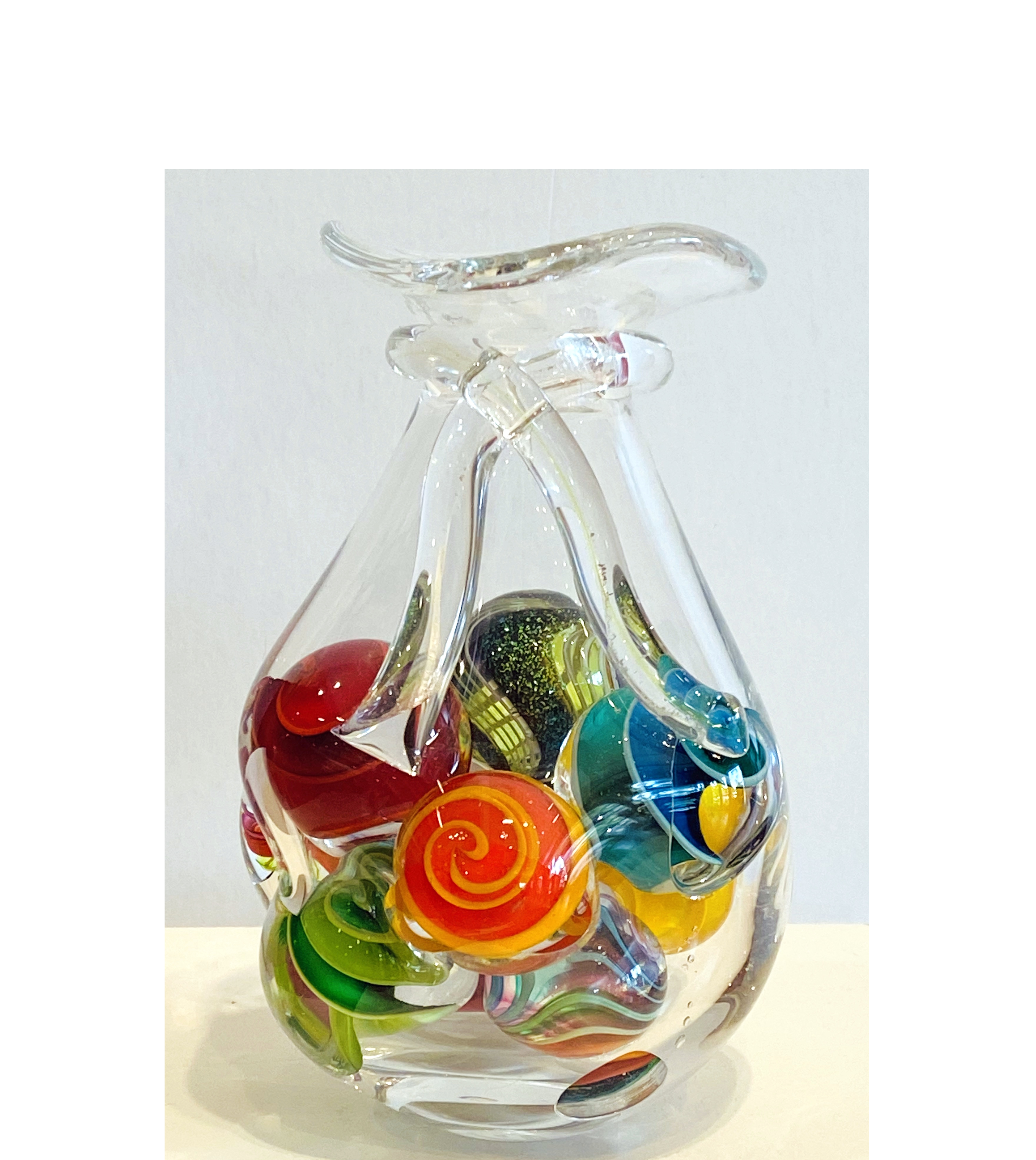 Mike Wallace_glass artist_hand blown glass_glass marbles_shooter marbles_bold glass_colorful art glass_American glass artists
