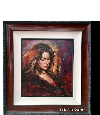 Andrew Atroshenko_ painter_ figurative form_ women_ballerina_dancer_Spanish dancer_traditional _Ukarine