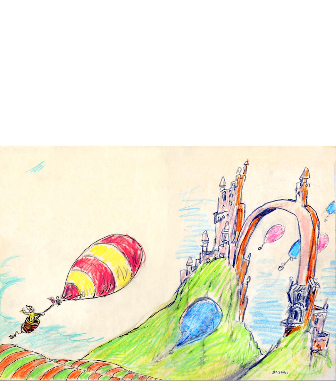 Dr. Seuss_Theodor Seuss Geisel_illustrative art_secret art, unorthodox taxidermy_Rare art_American Children's author_Illus