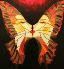 Alina Eydel_butterfly wings_figurative art_American artist_