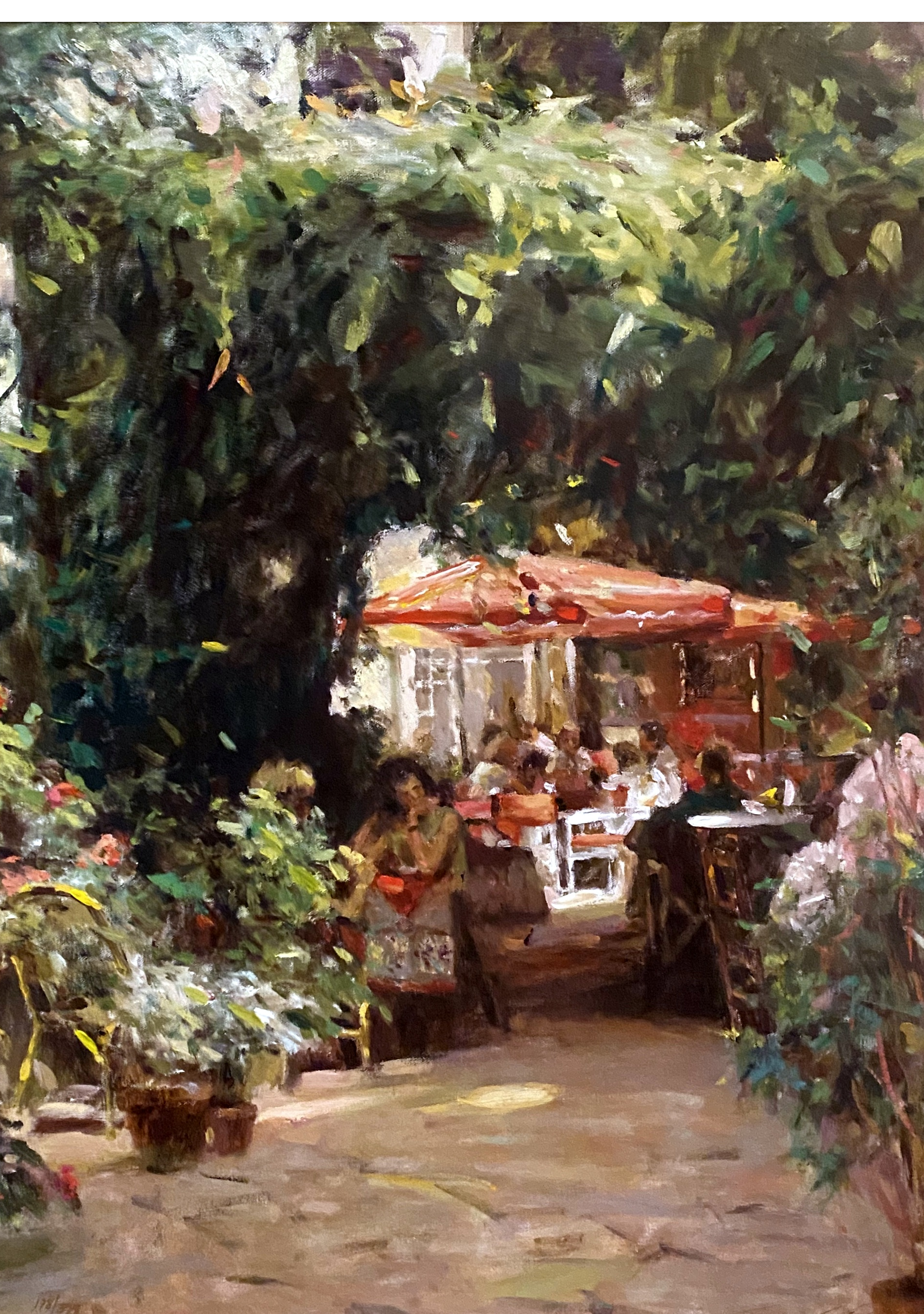 Leonard Wren_landscape painter_European scenes_impressionist_impressionism_cafes_castles_