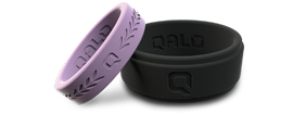 Qalo silicone wedding bands.