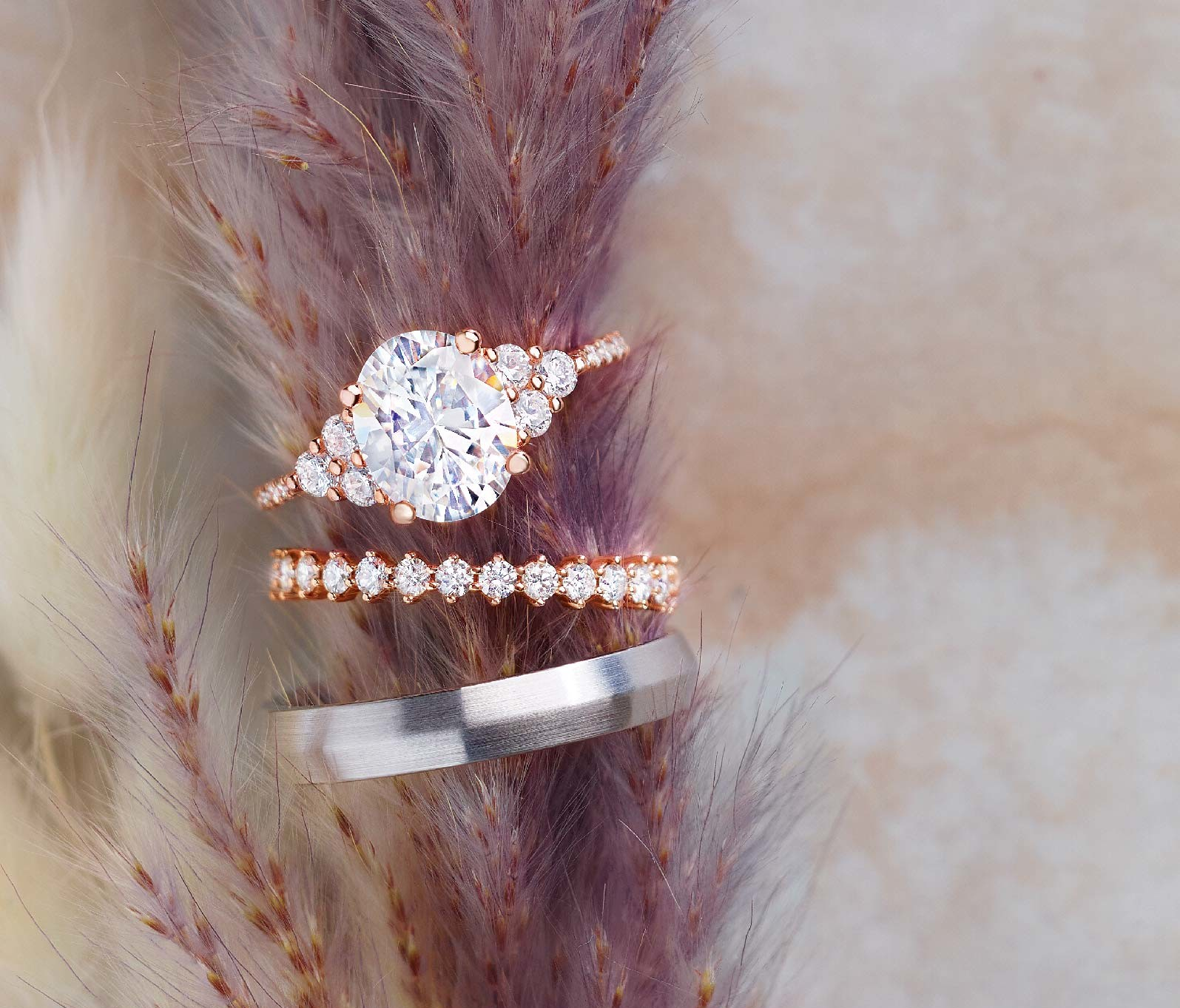 rose_gold_diamond_wedding_set