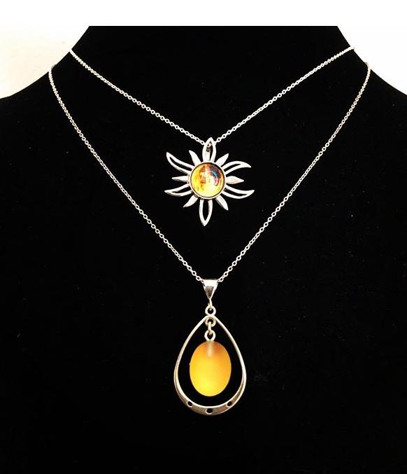 jewelry, necklace, earrings, crystal, sterling silver, sun