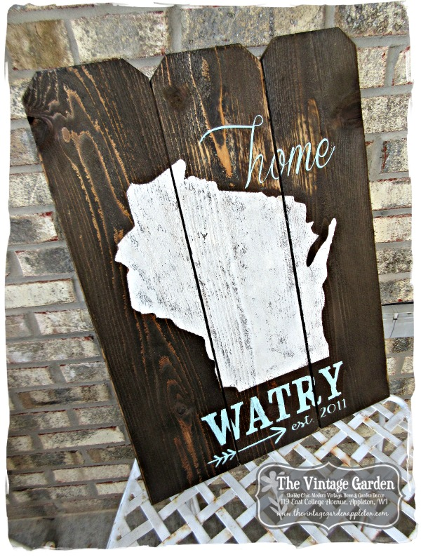 unique garden signs reclaimed painted furniture vintage inspired decor