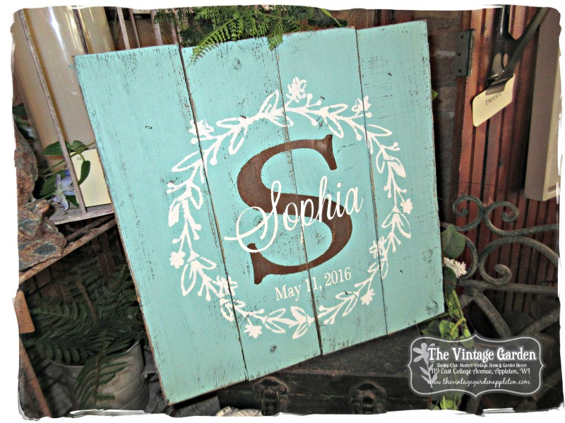 Customized Personalized Pallet Signs