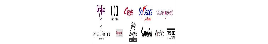 Capezio Bloch Grishko Gaynor Minden Sansha So Danca logos