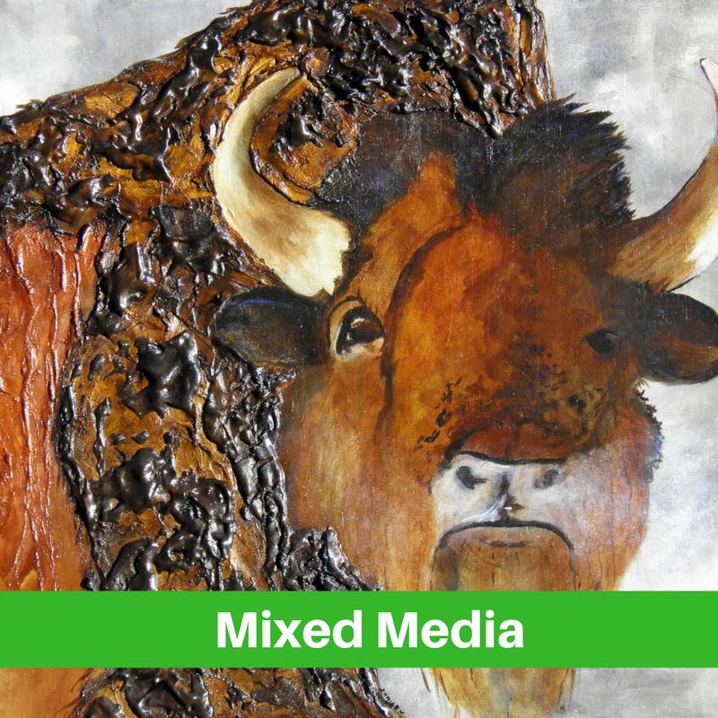 Mixed Media Art Stagecoach Gallery Platte, SD