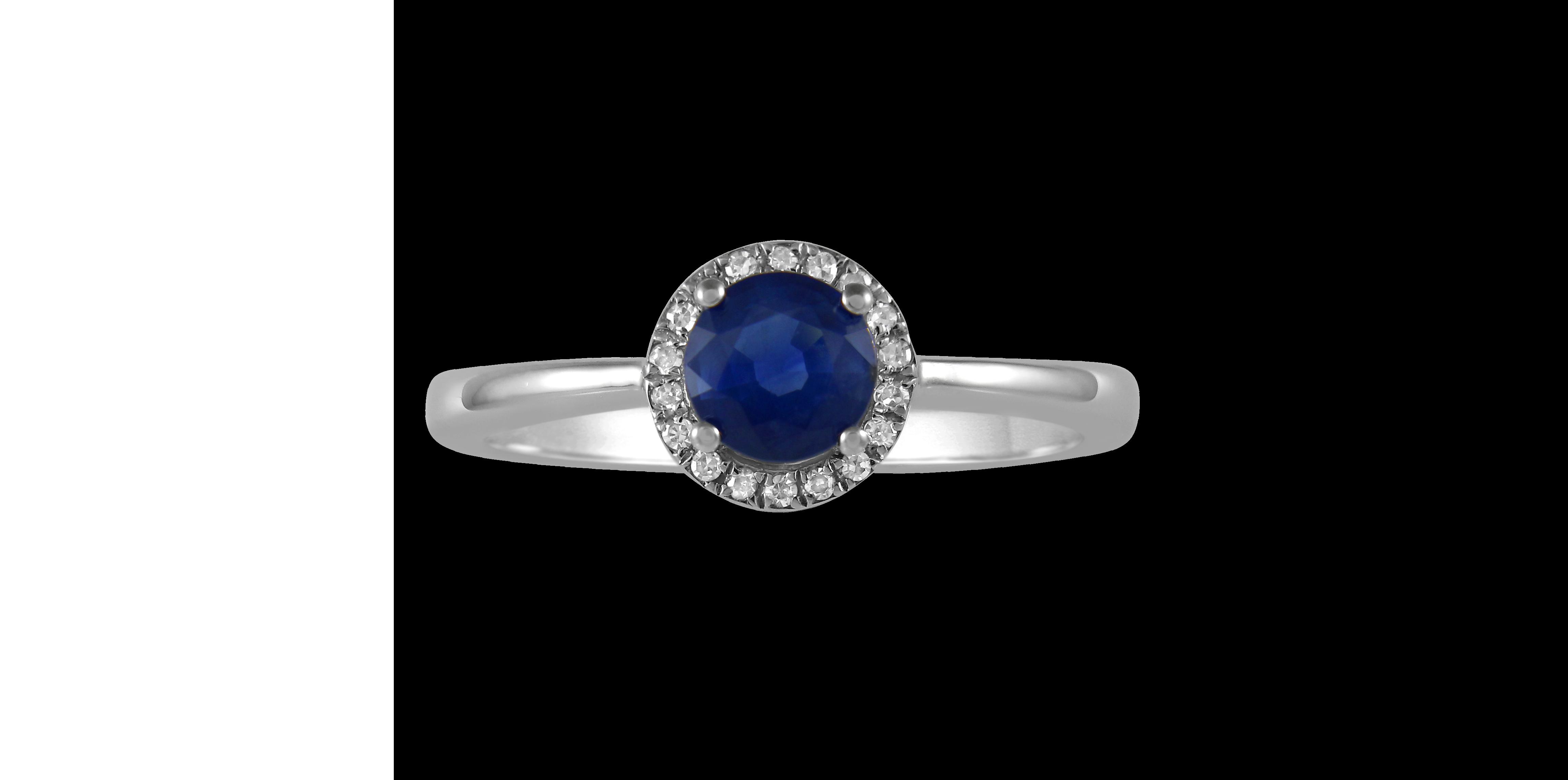 gold sapphire diamond birthstone ring