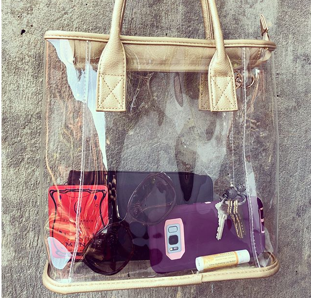 fashion, totes, stadium approved, clear bags, purse, handbag