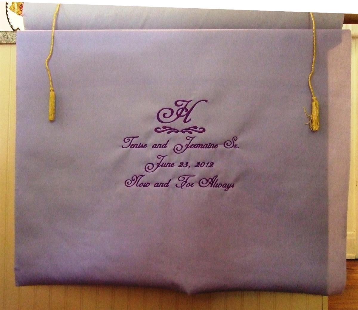 Aisle runner with monogram