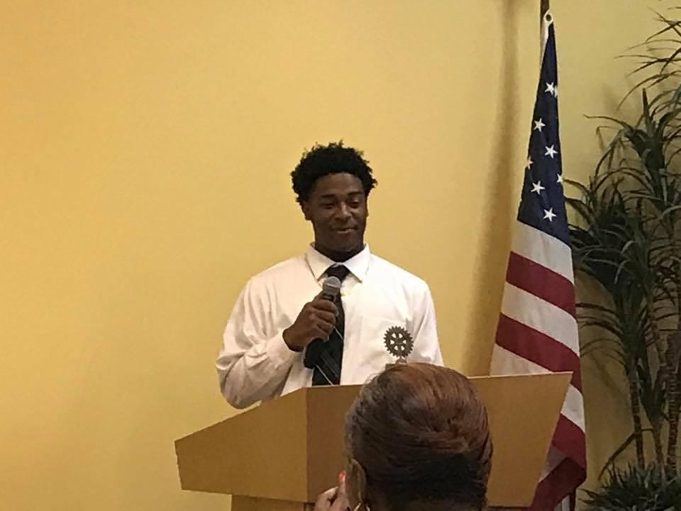 Isaiah Gibson at Rotary Club