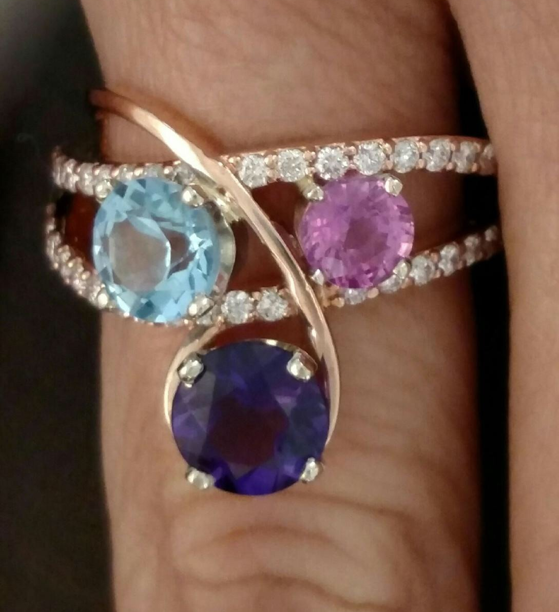 Completed New Setting with Gemstones