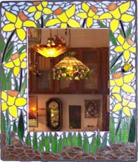 Mosaic mirror class project example.