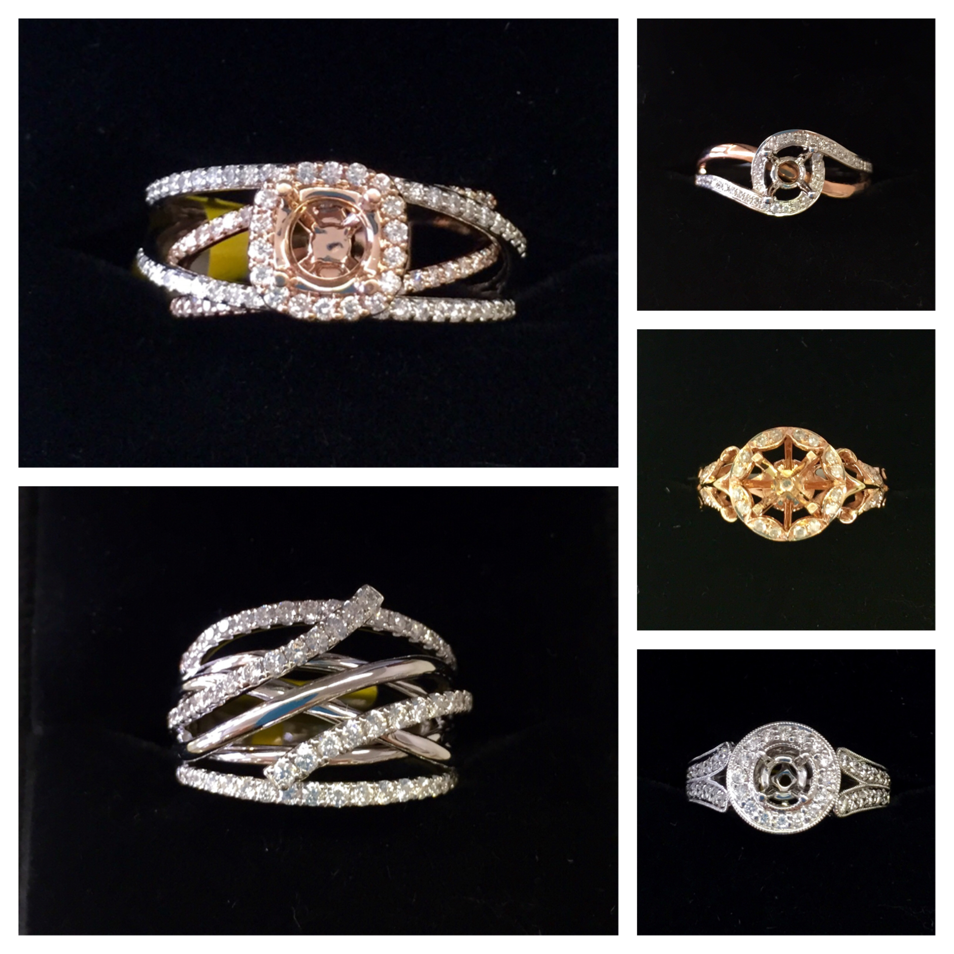Semi-mountings for ours or your diamonds