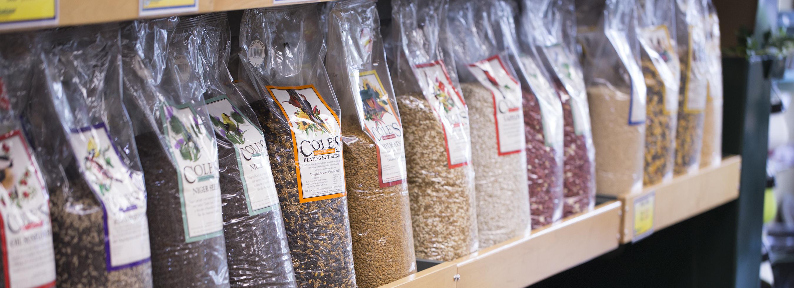 bird seed, bird food, Cole's wild bird products